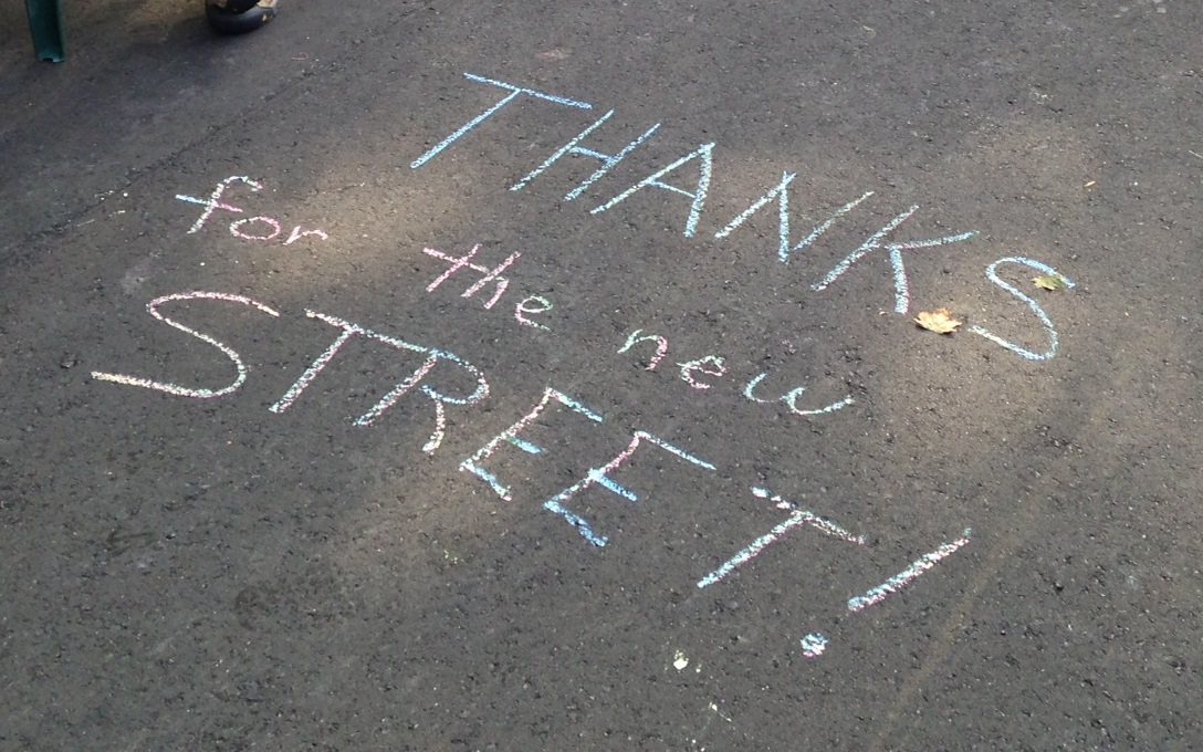 thanks for new street