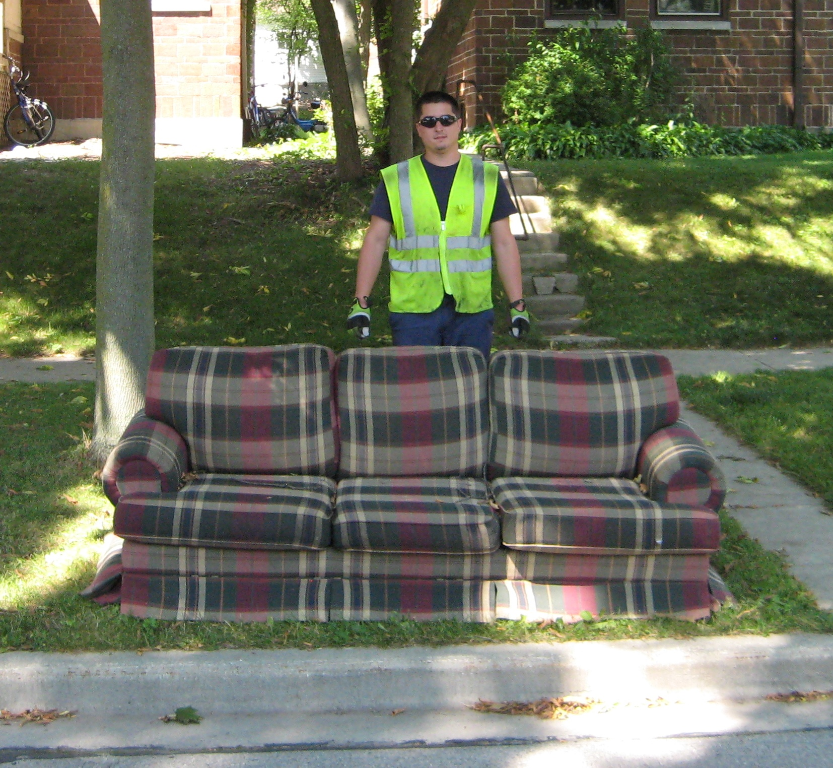 couch at curb