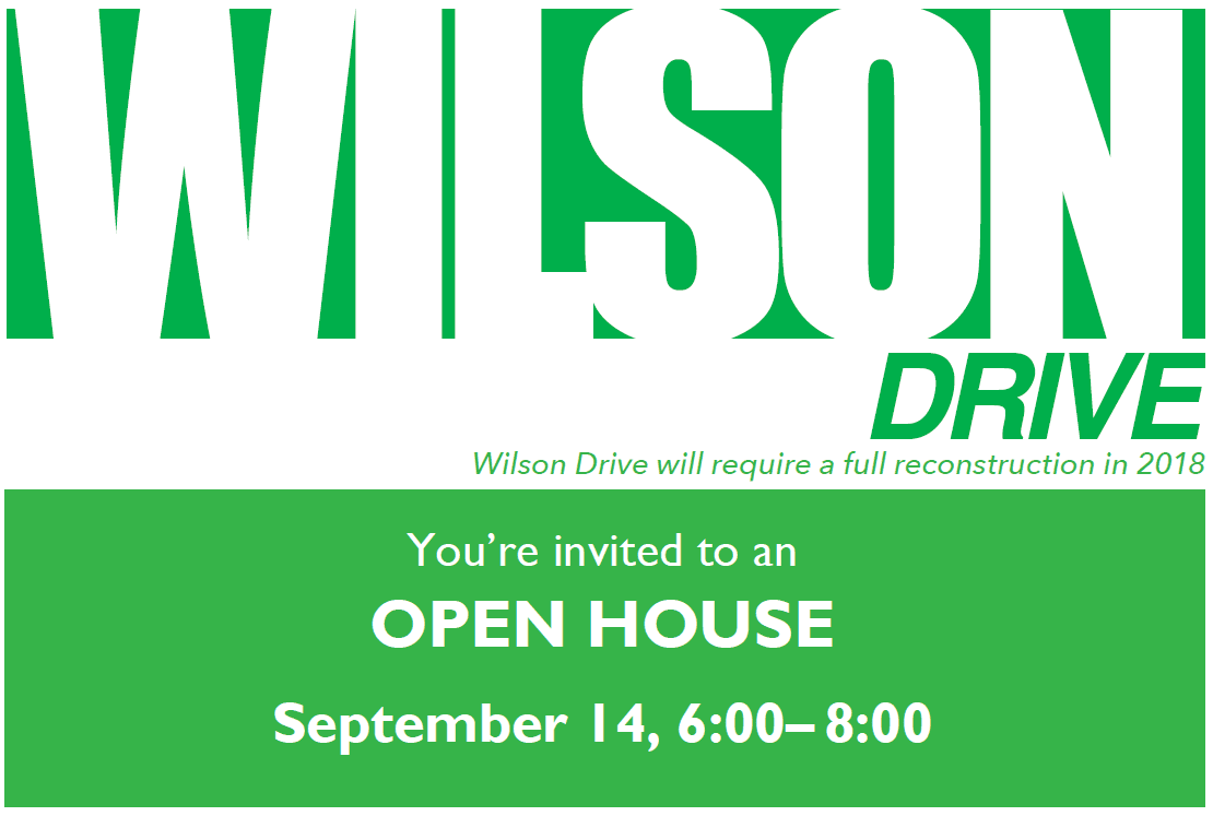 Wilson Drive Open House Postcard front