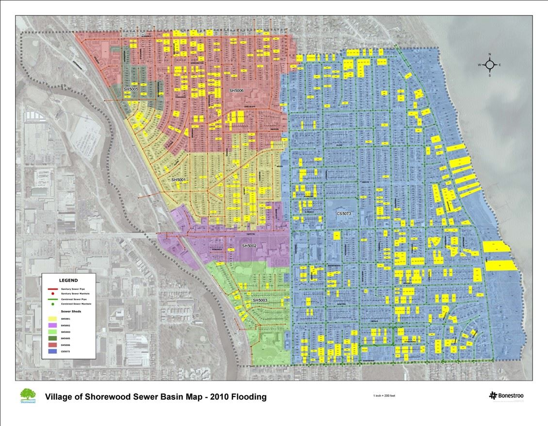 2010 reported flooding map