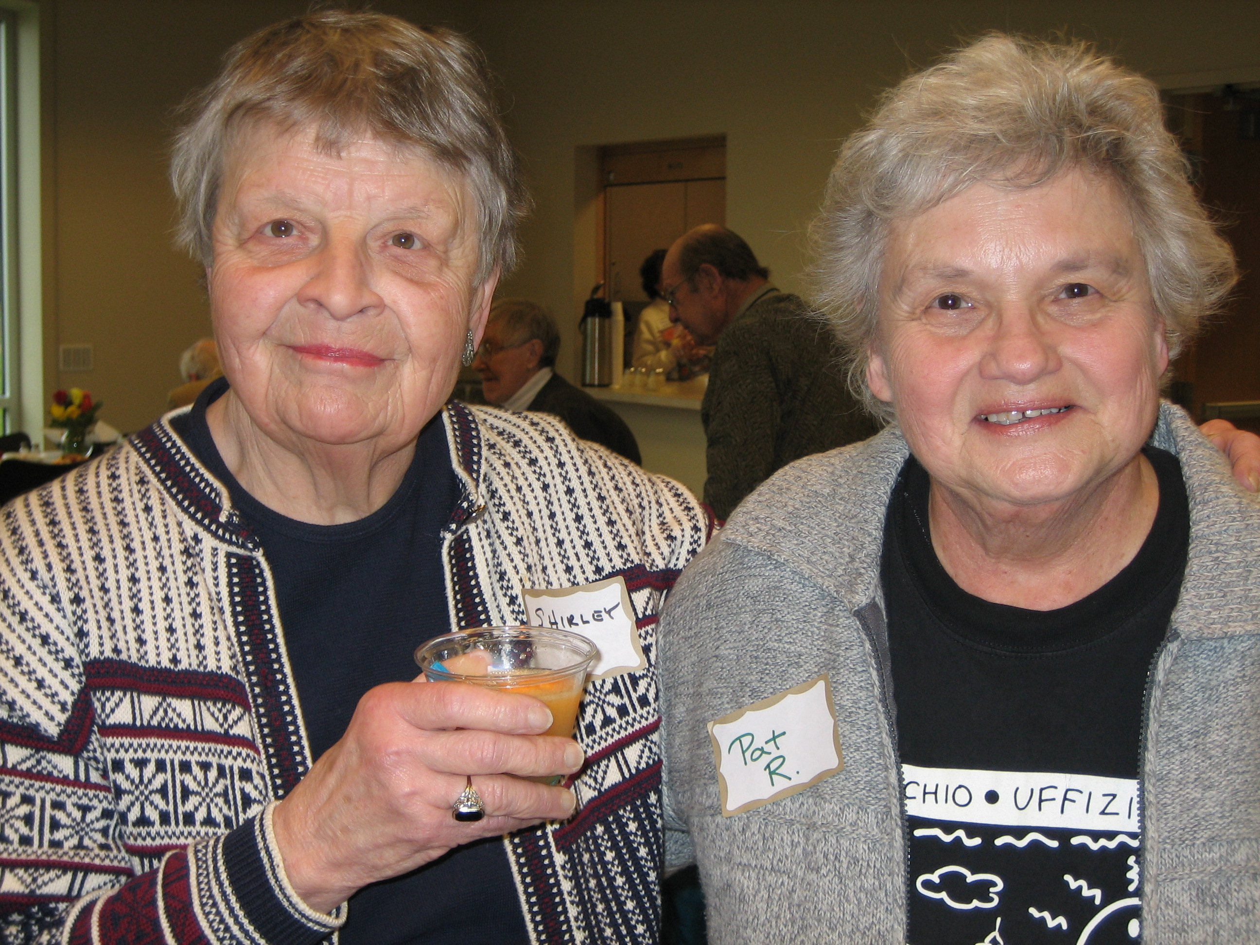 Both Shirley and Pat served on the Elder Services Advisory Board and now volunteer at the SRC.